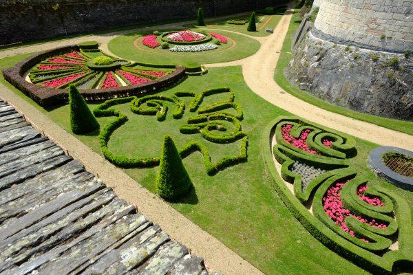 Les douves du château à Angers