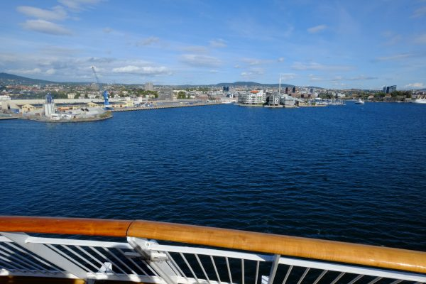 Vue sur Oslo depuis le Ferry