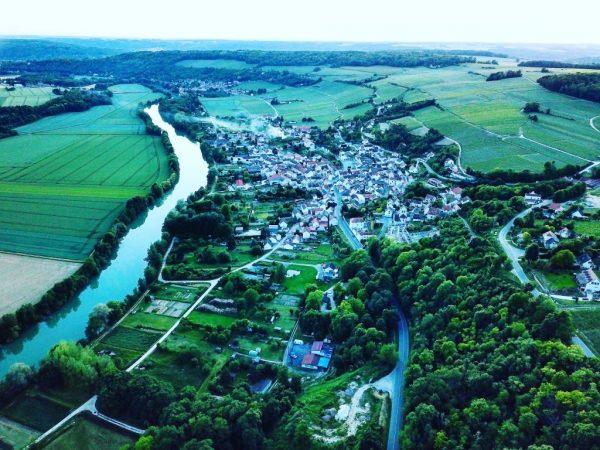 Vue de Crouttes sur Marne dans l'Aisne