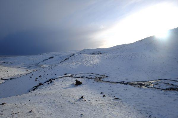 Des montagnes dans le sud-ouest de l'Islande
