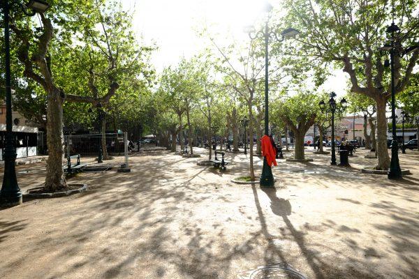 La place des Lices à Saint-Tropez