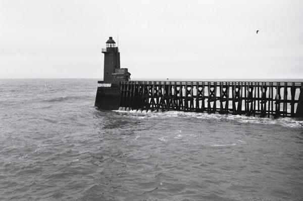 Fécamp, la Manche et la jetée du port