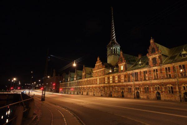 Copenhague, lors d'une escale la nuit
