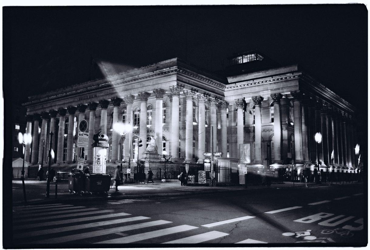 Le grand palais de la Bourse de Paris