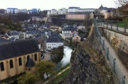 La partie de la ville haute de Luxembourg