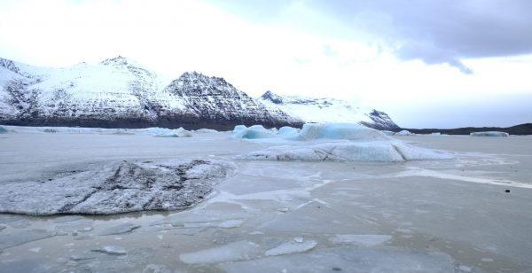 Au pied du glacier du Skaftafell