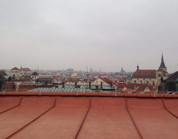 Prague en novembre et sous la brume
