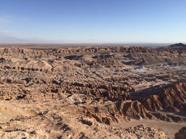 L'un des nombreux paysages du désert d'Atacama au Chili