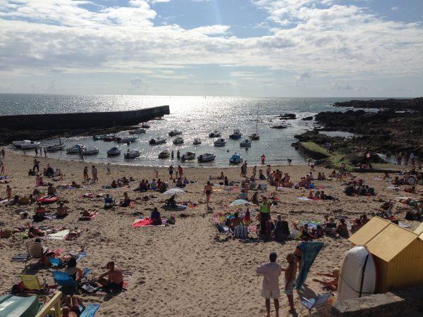 Une des plages de Batz en été