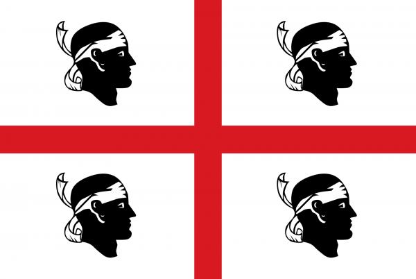 Le drapeau sarde adopté en 1999