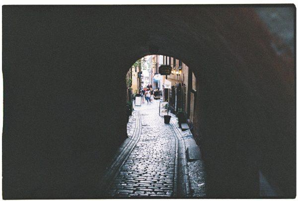 Un clair obscure dans le centre de Stocholm