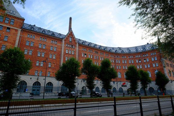 Une superbe façade du centre de Stockholm
