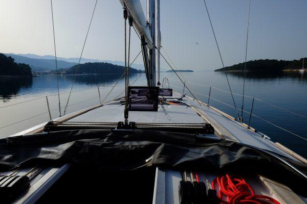 A l'approche de l'île de Rab en Dalmatie du nord