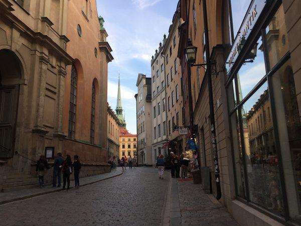 L'immanquable clocher de l'église allemande de Stockholm