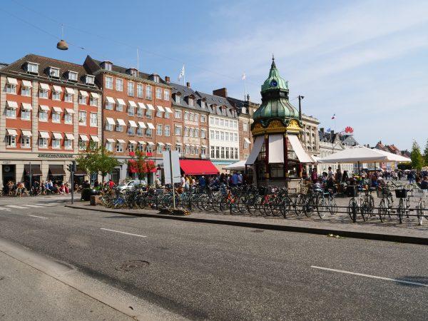 L'une des places du centre de Copenhague