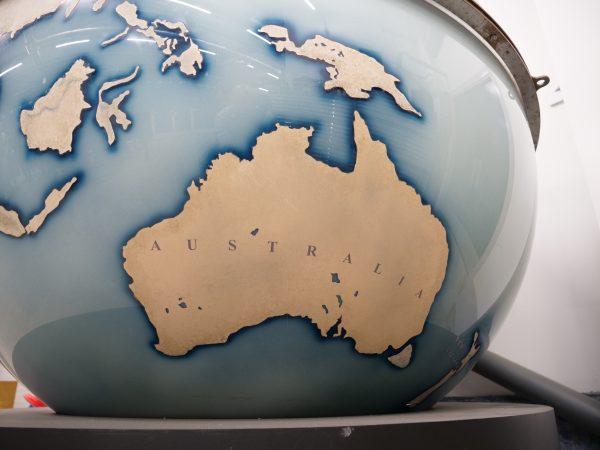 La carte de l'Australie
