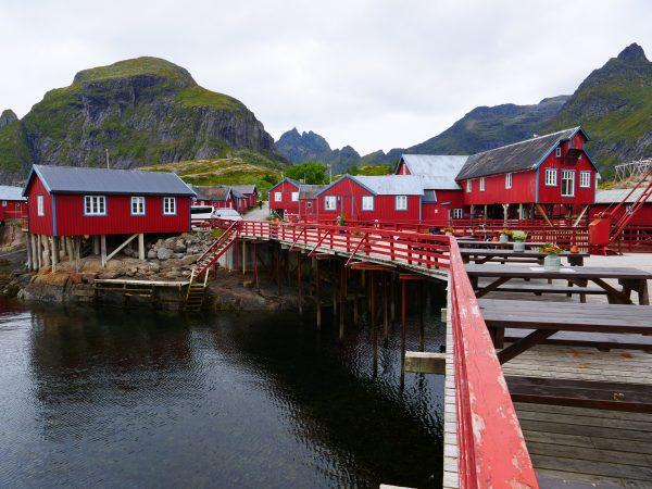 A un tout petit village situé au bout des Lofoten
