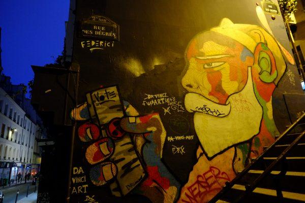 Les murs de Paris dans le deuxième arrondissement