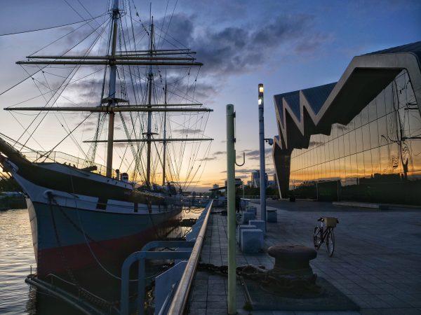 Le long de la Clyde à Glasgow