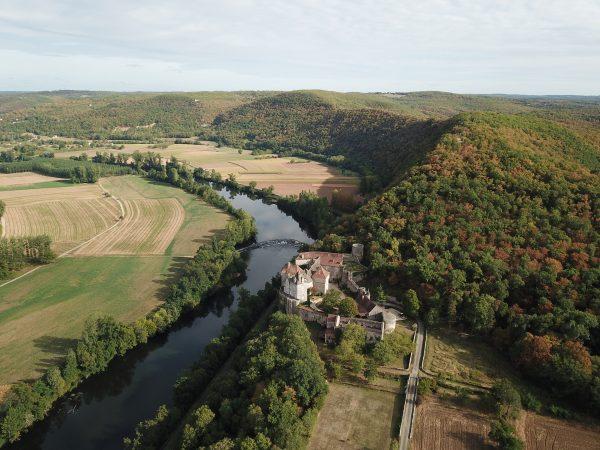 Vur sur le château depuis un drone