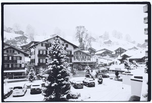 Le petit village de Grindelwald en hiver
