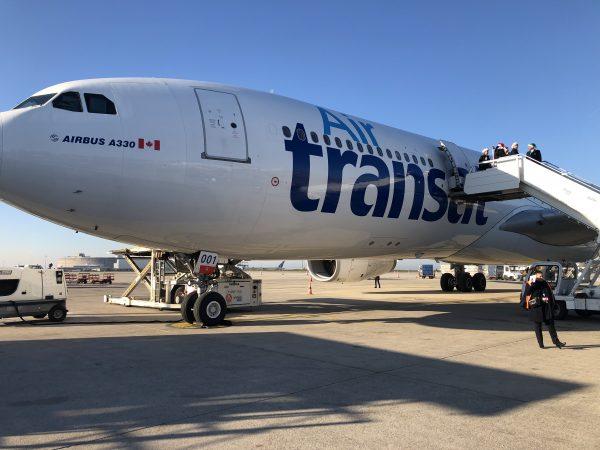 L'un des avions de la compagnie aérienne Air Transat