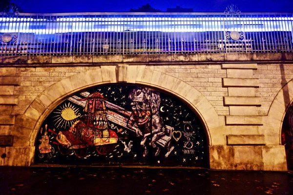 Métro et street art à Paris