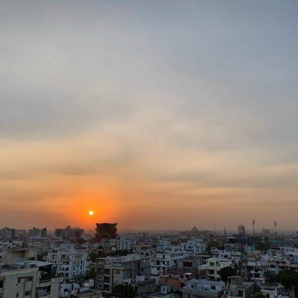 Un coucher de soleil sur Jaipur