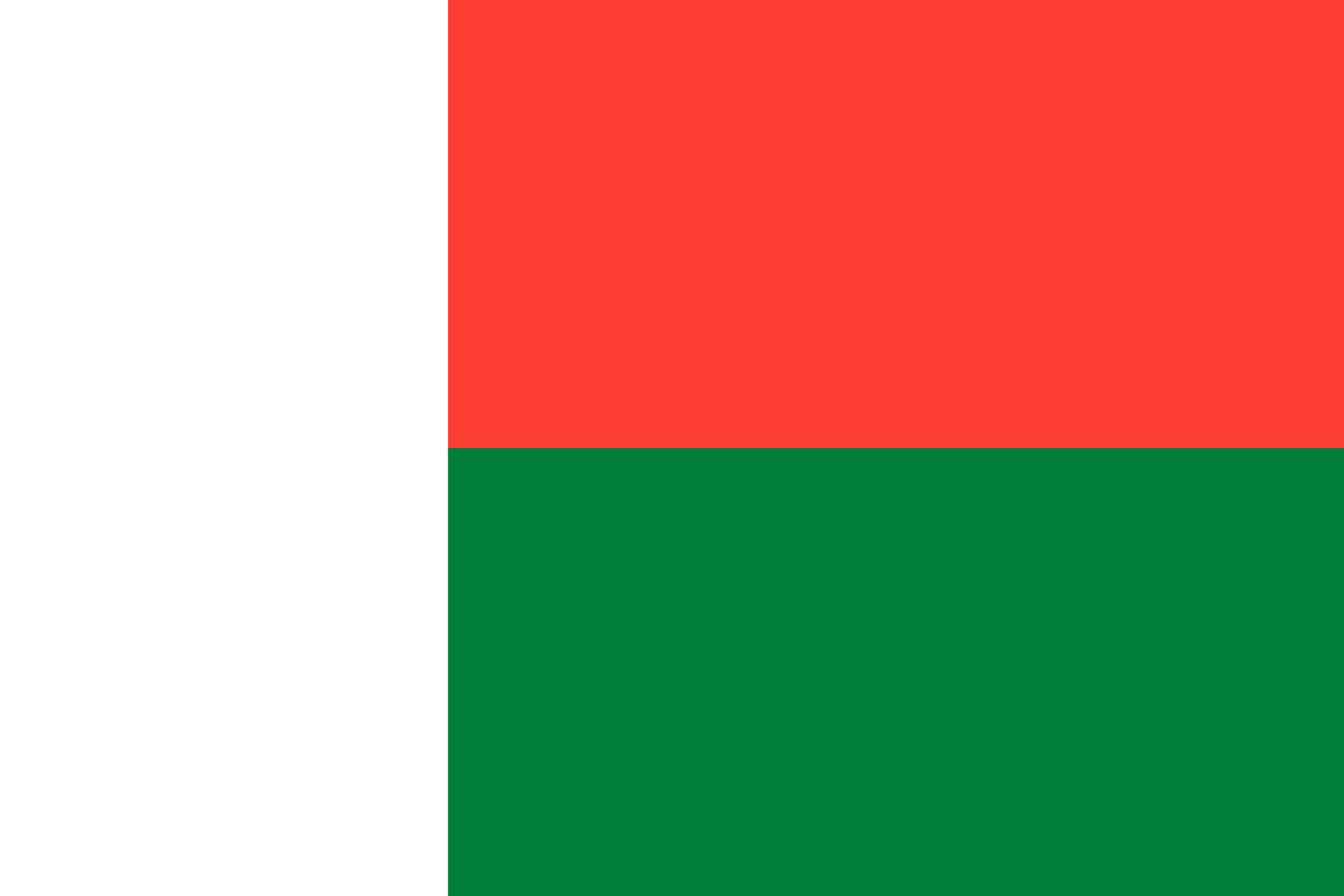 le drapeau de Madagascar