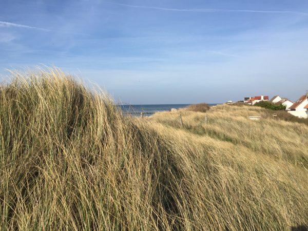 Des champs et la mer au mois d'avril