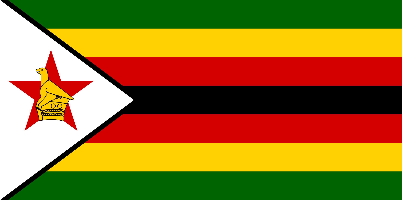 Le drapeau du Zimbabwe