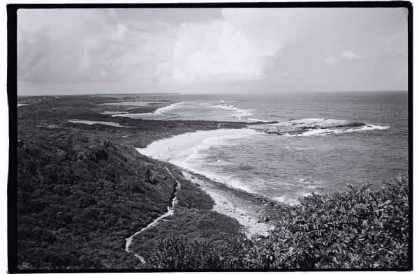 Les côtes de la Guadeloupe en noir et blanc