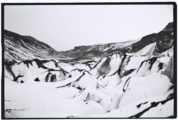 L'un des glaciers dans le sud de l'Islande
