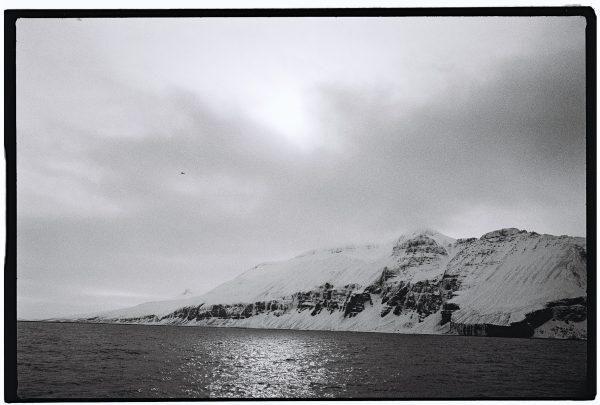 Les paysages de l'Arctique en noir et blanc