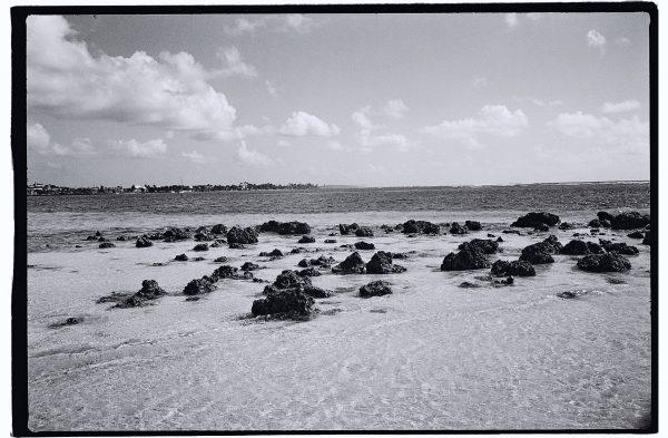 Les pierres volcaniques de la plage de la Caravelle