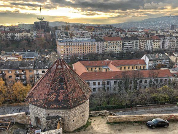 La vue depuis le château de Budapest
