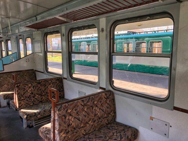 Un wagon du train Budapest-Szentendre