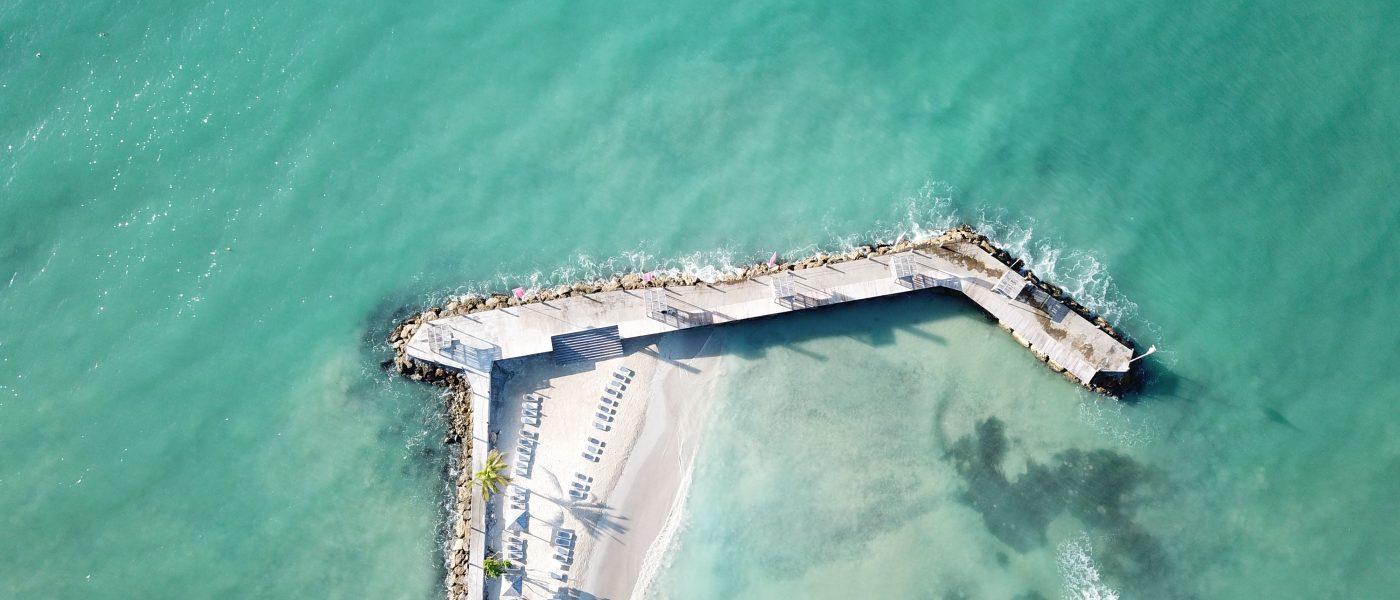Une des plages privées du Gosier
