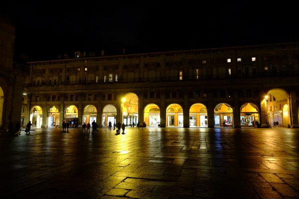 Les arches de la ville de Bologne