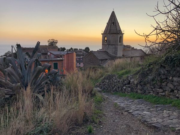 Corniglia en fin de journée en hiver
