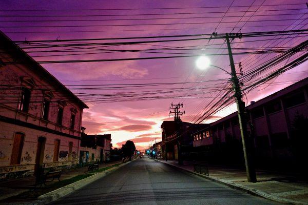 Punta Arenas au bord de la nuit