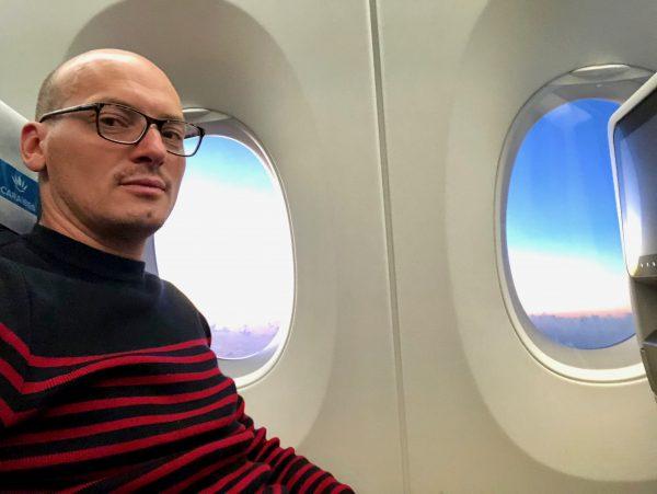 A bord d'un avion de la compagnie Air Caraïbes