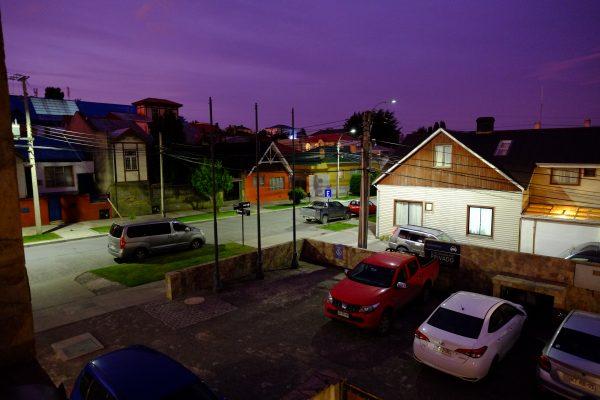 La nuit tombe à Punta Arenas