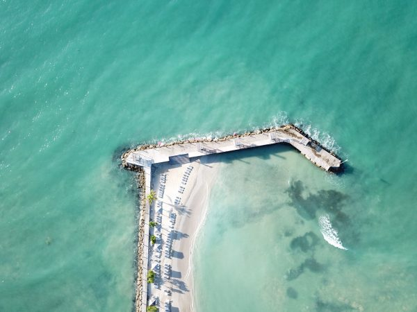 Une plage privé aux Antilles françaises