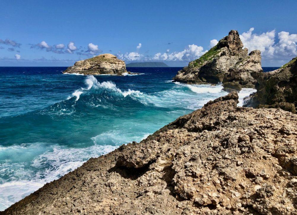 La vue depuis l'extrême Est de la Guadeloupe