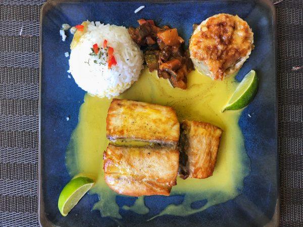 Un plat très coloré