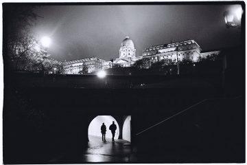 Budapest la nuit en automne