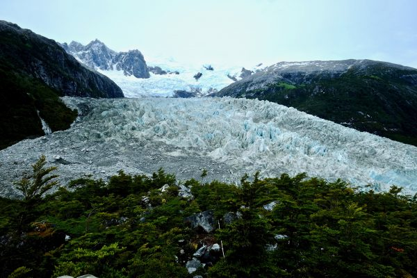 Une vue sur le glacier Pia depuis un belvédère
