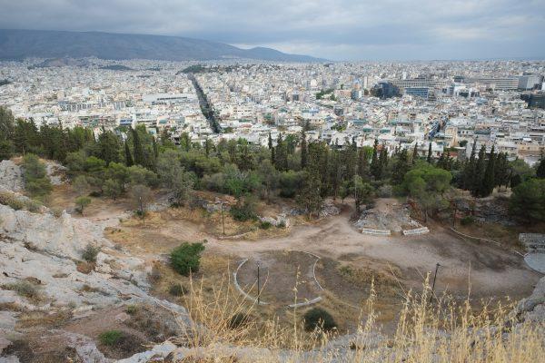 Athènes vue depuis l'une des collines de la ville