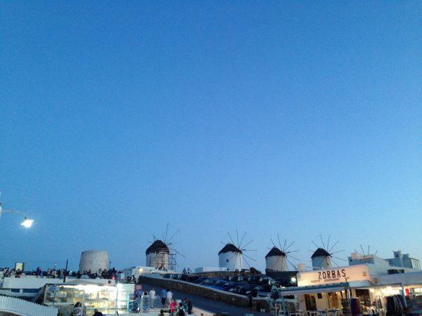 Mykonos au crépuscule